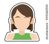 isolated woman avatar design | Shutterstock .eps vector #545260543