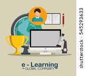 e learning global community | Shutterstock .eps vector #545293633