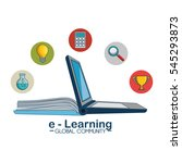 e learning global community | Shutterstock .eps vector #545293873