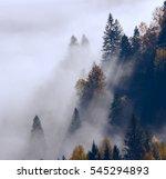 Colorful Foggy Autumn Thailand Mountains - Fine Art prints