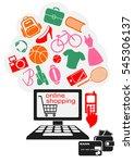 internet online shopping.... | Shutterstock . vector #545306137