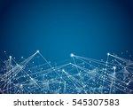 futuristic shape. computer... | Shutterstock .eps vector #545307583