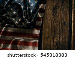 usa flag on a wood surface | Shutterstock . vector #545318383