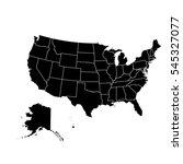 black map of usa | Shutterstock .eps vector #545327077