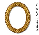 frame gold color with shadow on ... | Shutterstock .eps vector #545331103