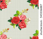 seamless floral pattern rose... | Shutterstock .eps vector #545336887