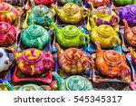 traditional iranian kettles and ... | Shutterstock . vector #545345317