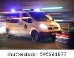 ambulance speeding to accident  ... | Shutterstock . vector #545361877