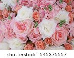 colorful red rose flower... | Shutterstock . vector #545375557