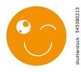 emogy face kawaii style vector... | Shutterstock .eps vector #545380213
