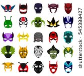 masks of superheroes flat icon... | Shutterstock .eps vector #545388427