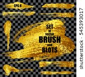 set of gold vector brushes ... | Shutterstock .eps vector #545393017