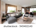 beautiful room interior with... | Shutterstock . vector #545402143