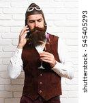 Handsome Bearded Pilot Man Wit...