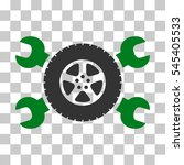 green and gray tire service... | Shutterstock .eps vector #545405533
