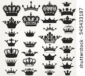 big collection of vector crown... | Shutterstock .eps vector #545433187