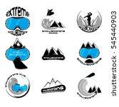 snowboarding logo design... | Shutterstock .eps vector #545440903