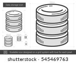 data storage vector line icon...   Shutterstock .eps vector #545469763