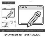 data editing vector line icon... | Shutterstock .eps vector #545480203