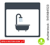 shower bath calendar page icon. ... | Shutterstock .eps vector #545484523