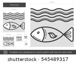 fish vector line icon isolated... | Shutterstock .eps vector #545489317