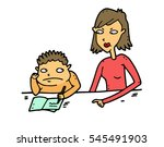 too strict mother... | Shutterstock .eps vector #545491903