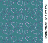 vector pattern of the heart | Shutterstock .eps vector #545495593