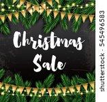 christmas sale. business card... | Shutterstock .eps vector #545496583