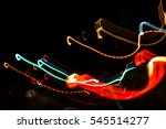 abstract image of night lights... | Shutterstock . vector #545514277