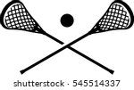 lacrosse sticks and ball symbol | Shutterstock .eps vector #545514337