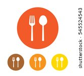 fork and spoon flat icon vector