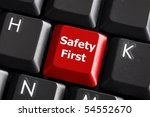 safety first concept with red... | Shutterstock . vector #54552670