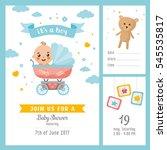 it's a boy shower set.... | Shutterstock .eps vector #545535817