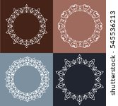 set of four abstract vector... | Shutterstock .eps vector #545536213