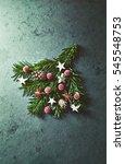 natural  rustic christmas... | Shutterstock . vector #545548753