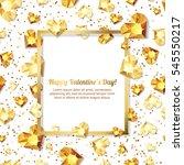 valentines day vector... | Shutterstock .eps vector #545550217