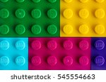 Small photo of Tambov, Russian Federation - July 24, 2016 Background of different colors Lego baseplates. Studio shot.