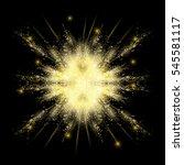 gold glitter explosion vector... | Shutterstock .eps vector #545581117