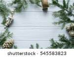 6. new year and winter set on... | Shutterstock . vector #545583823
