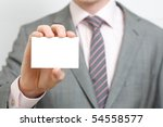 a business man offering you his ... | Shutterstock . vector #54558577
