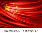 china flag of silk  3d... | Shutterstock . vector #545592817