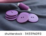 fabric gray with lilac buttons | Shutterstock . vector #545596093
