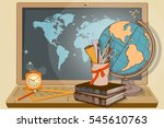 education on the world wide web ... | Shutterstock .eps vector #545610763
