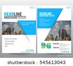 abstract vector modern flyers...   Shutterstock .eps vector #545613043