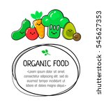 diet and organic food template. ... | Shutterstock .eps vector #545627353