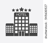 hotel icon isolated on white... | Shutterstock .eps vector #545630527