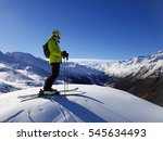 skiing background  skier in... | Shutterstock . vector #545634493