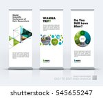 abstract business vector set of ... | Shutterstock .eps vector #545655247