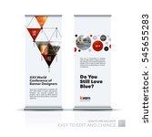 abstract business vector set of ... | Shutterstock .eps vector #545655283