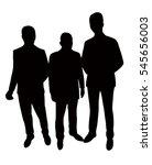 man body silhouette vector | Shutterstock .eps vector #545656003